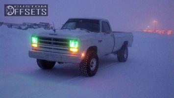 "1986 Dodge w100 - 15x12 -24mm - American Racing N/A - Body Lift 3"" - 33"" x 12.5"""