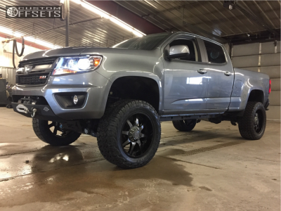 """2018 Chevrolet Colorado - 20x9 -12mm - Panther Offroad 578 - Suspension Lift 6"""" - 275/55R20"""