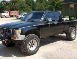 "1992 Toyota Pickup - 15x9 -12mm - Mickey Thompson Bullet Hole - Stock Suspension - 32"" x 11.5"""