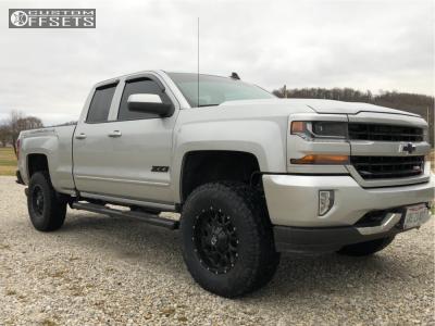 "2016 Chevrolet Silverado 1500 - 18x9 18mm - Dropstar 645b - Suspension Lift 4.5"" - 295/70R18"