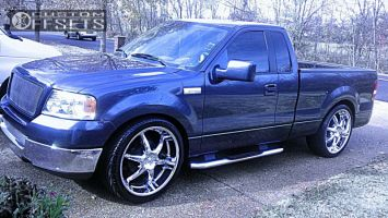 2005 Ford F-150 - 24x10 12mm - Alba 01 - Lowered 3F / 5R - 295/35R24