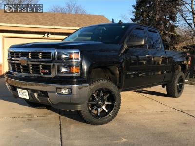 "2014 Chevrolet Silverado 1500 - 20x10 -12mm - Fuel Coupler - Suspension Lift 4"" - 33"" x 12.5"""