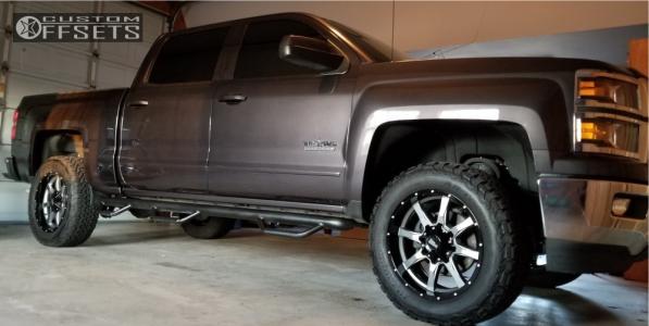 "2015 Chevrolet Silverado 1500 - 20x9 0mm - Moto Metal Mo970 - Suspension Lift 4"" - 305/55R20"