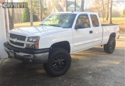 "2003 Chevrolet Silverado 1500 - 18x9 1mm - Fuel Maverick - Suspension Lift 4"" - 295/70R18"