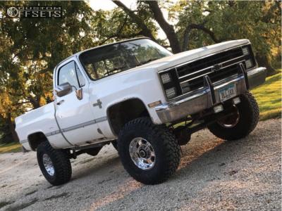 """1985 Chevrolet K10 - 16x8 0mm - Pro Comp Series 89 - Suspension Lift 4"""" - 315/75R16"""