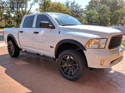 "2016 Dodge Ram 1500 - 22x9.5 15mm - XD Xd818 - Suspension Lift 4.5"" - 285/55R22"