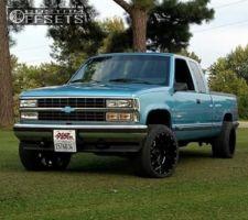 """1993 Chevrolet K1500 - 20x12 -44mm - Gear Off-Road Big Block - Suspension Lift 3"""" - 295/45R20"""