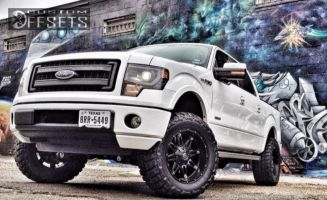 "2013 Ford F-150 - 20x10 -24mm - Fuel Hostage - Suspension Lift 6"" - 35"" x 12.5"""
