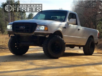 """2010 Ford Ranger - 15x10 -38mm - Pacer Soft 8 - Suspension Lift 4"""" - 31"""" x 10.5"""""""