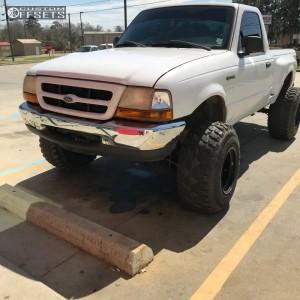 """1999 Ford Ranger - 15x14 -88mm - Bart Super Trucker - Leveling Kit & Body Lift - 33"""" x 13.5"""""""