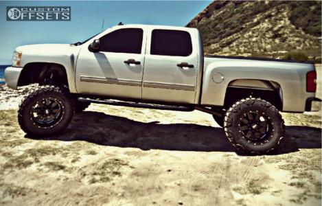 "2011 Chevrolet Silverado 1500 - 20x12 -44mm - Moto Metal Mo962 - Suspension Lift 10"" - 37"" x 13.5"""