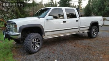 """1998 Chevrolet K3500 - 18x9 -12mm - Alloy Ion Style 187 - Suspension Lift 3"""" - 35"""" x 12.5"""""""
