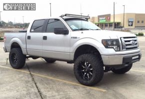"2010 Ford F-150 - 20x10 -24mm - Moto Metal Mo970 - Suspension Lift 6"" - 35"" x 12.5"""