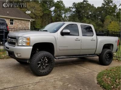 "2010 Chevrolet Silverado 1500 - 22x12 -44mm - American Truxx Vortex - Suspension Lift 8"" - 35"" x 12.5"""