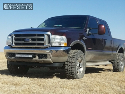 """2004 Ford F-250 Super Duty - 18x8 44mm - Spaced Out Stockers Spaced Out Stockers - Stock Suspension - 33"""" x 12.5"""""""