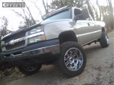 "2006 Chevrolet Silverado 1500 - 20x12 -44mm - XD Riot - Suspension Lift 6"" - 35"" x 12.5"""