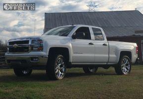 "2014 Chevrolet Silverado 1500 - 22x9 27mm - Oe Performance 150 - Leveling Kit - 33"" x 12.5"""