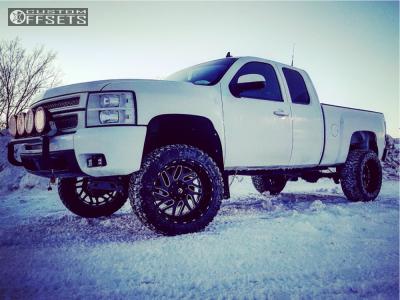 "2013 Chevrolet Silverado 1500 - 22x12 -44mm - Fuel Triton - Suspension Lift 7.5"" - 35"" x 12.5"""