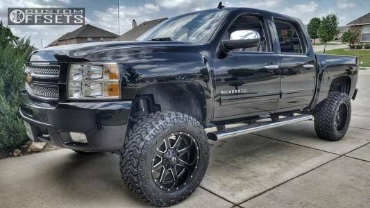 "2012 Chevrolet Silverado 1500 - 20x10 -12mm - Fuel Maverick - Suspension Lift 6"" - 35"" x 12.5"""