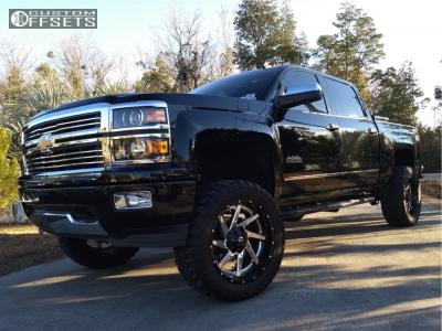 """2014 Chevrolet Silverado 1500 - 22x10 -13mm - Fuel Renegade - Suspension Lift 6"""" - 35"""" x 12.5"""""""
