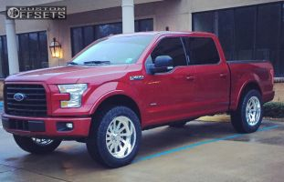 "2015 Ford F-150 - 22x10 -25mm - American Force BURNOUT SS - Leveling Kit - 35"" x 12.5"""
