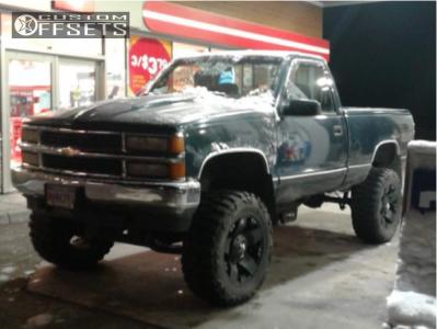 "1995 Chevrolet K1500 - 20x8.5 10mm - Xd Xd775 - Suspension Lift 6"" & Body 3"" - 35"" x 12.5"""