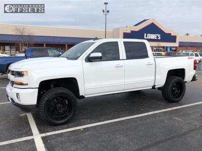 "2018 Chevrolet Silverado 1500 - 20x10 -19mm - Gear Off-Road Big Block - Leveling Kit - 33"" x 12.5"""