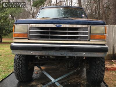 "1989 Ford Bronco II - 15x7 -6mm - American Racing Ar23 - Suspension Lift 4"" - 31"" x 10.5"""