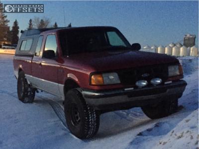"1994 Ford Ranger - 15x8 0mm - Pro Comp Series 51 - Suspension Lift 4"" - 33"" x 12.5"""
