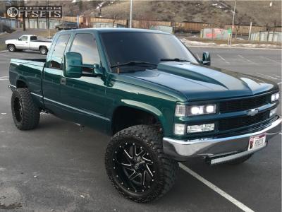 """1997 Chevrolet K1500 - 20x10 -18mm - Fuel Renegade D594 - Suspension Lift 3"""" - 33"""" x 12.5"""""""