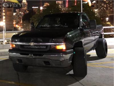 "2005 Chevrolet Silverado 1500 - 20x14 -76mm - Hostile Exile - Suspension Lift 4.5"" - 305/50R20"