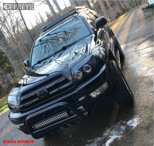 """2004 Toyota 4Runner - 17x7.5 20mm - Spaced Out Stockers Spaced Out Stockers - Suspension Lift 3"""" - 255/70R17"""
