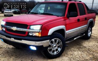 2006 Chevrolet Avalanche - 20x9 18mm - XD Riot - Leveling Kit - 285/55R20