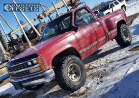 "1989 Chevrolet K1500 - 15x10 -43mm - American Racing Baja - Stock Suspension - 33"" x 12.5"""