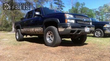 "2005 Chevrolet Silverado 1500 - 17x9.5 -18mm - Pro Comp N/A - Body Lift 3"" - 315/70R17"