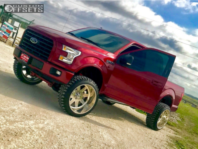 """2016 Ford F-150 - 24x14 -73mm - American Force Legend Ss - Suspension Lift 6"""" - 35"""" x 12.5"""""""