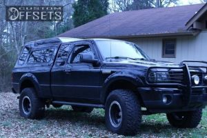 """2008 Ford Ranger - 16x10 -38mm - Alloy Ion Style 174 - Suspension Lift 4"""" - 305/70R16"""