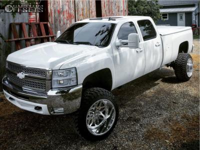 "2008 Chevrolet Silverado 3500 HD - 22x14 -73mm - American Force Evo Ss - Suspension Lift 6"" - 35"" x 12.5"""