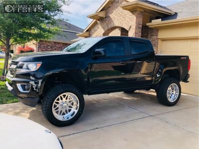 "2017 Chevrolet Colorado - 20x10 -25mm - American Force Trax Ss - Suspension Lift 6"" - 285/55R20"