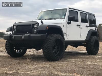 "2018 Jeep Wrangler - 22x12 -51mm - Vision Rocker - Suspension Lift 3"" - 35"" x 12.5"""