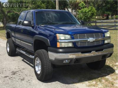 "2004 Chevrolet Silverado 1500 - 16x8 -12mm - Pro Comp Series 89 - Suspension Lift 4"" - 33"" x 12.5"""