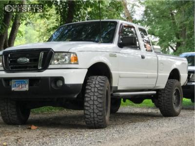"2008 Ford Ranger - 17x10 -24mm - Fuel Maverick - Leveling Kit & Body Lift - 33"" x 12.5"""