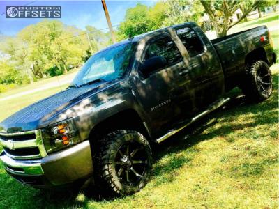 "2010 Chevrolet Silverado 1500 - 20x10 -24mm - Fuel Coupler - Suspension Lift 3.5"" - 33"" x 12.5"""