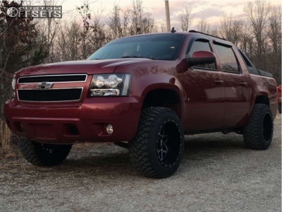 "2007 Chevrolet Avalanche - 20x12 -44mm - Xtreme Mudder Xm-313 - Leveling Kit - 33"" x 12.5"""