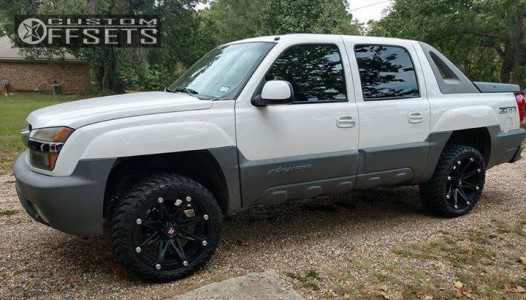 "2002 Chevrolet Avalanche - 22x9.5 -12mm - Ballistic Jester - Leveling Kit - 33"" x 12.5"""