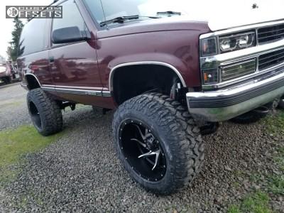 """1992 Chevrolet Blazer - 20x12 -44mm - Red Dirt Road Vortex - Suspension Lift 6"""" - 35"""" x 12.5"""""""
