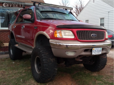 """2000 Ford Expedition - 16x10 -25mm - Mickey Thompson Classic - Suspension Lift 7"""" & Body 3"""" - 38"""" x 15.5"""""""