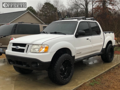 """2001 Ford Explorer Sport Trac - 20x12 -44mm - Fuel Hostage - Stock Suspension - 33"""" x 12.5"""""""