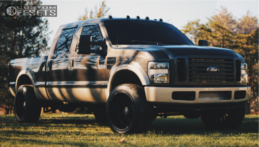 2008 Ford F-250 Super Duty - 22x12 -40mm - American Force Octane Ss - Leveling Kit - 305/45R22