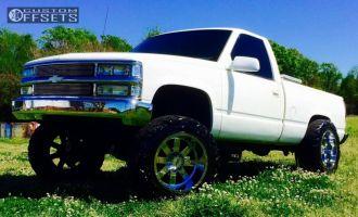 "1991 Chevrolet K1500 - 20x12 -44mm - Moto Metal Mo962 - Suspension Lift 6"" - 35"" x 12.5"""